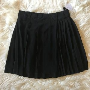 NWT Anthropologie Meadow Rue Black Pleated Skirt